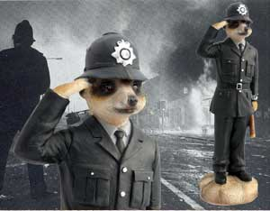 Meerkat Policeman from Solent Pet Supplies