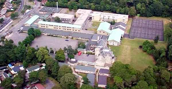 Bay House School Gosport from the air in colour